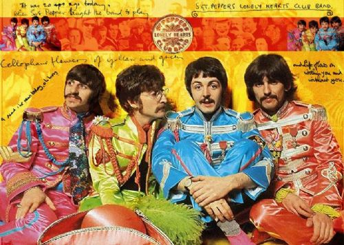 THE BEATLES - PEPPERS BAND canvas print - self adhesive poster - photo print